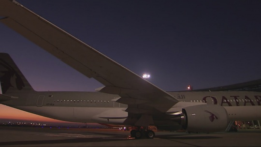 Airbus A350 Qatar Delivery - Making-of